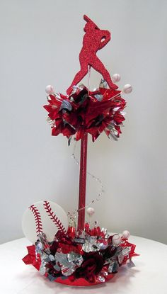 Baseball Having a Ball Centerpiece is great for large venues. Order in your team colors. www.awesomeevent.com