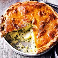 John Waite's potato, cheese & onion pie Potato Dishes, Savoury Dishes, Vegetable Dishes, Savoury Tarts, Vegetable Pie, Veg Recipes, Cooking Recipes, Potato Recipes, Quiches