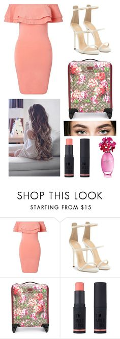 """""""First Class Outta Here"""" by thebumblebri ❤ liked on Polyvore featuring Miss Selfridge, Giuseppe Zanotti, Gucci and Charlotte Russe"""