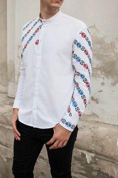 Mexican embroidery ethnic necktie Vintage Mens Black Cotton Skinny Necktie wFolk Art Mexican Embroidery embroidered necktie