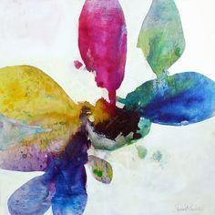 "Eden: Orchida II: 36"" x 36"" ink, oil, & graphite on canvas, 2013"