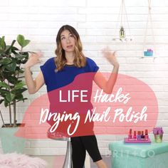 Watch this beauty life hack video to learn how to dry your nail polish quickly.
