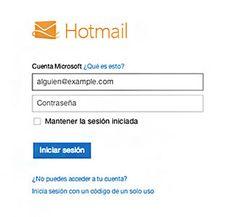 Formulario de Ingreso a Hotmail