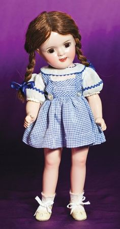 "COMPOSITION PORTRAIT DOLL ""JUDY GARLAND"" AS DOROTH"