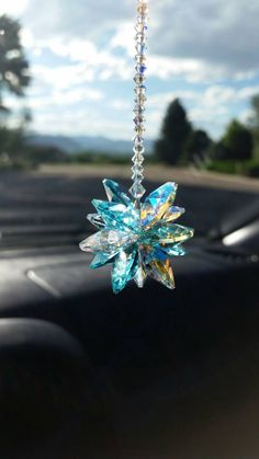 Swarovski Crystal Car Charm Cross Car Charm Cross For Car