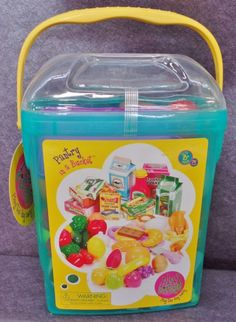 Description: Play Circle Pantry In A Bucket 79 Pieces Ages 3 and Up/  Item ID: 30 TARGET