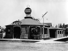 The Round House Cafe, formerly located at 250 N. Virgil Avenue. It originally opened around 1927, but this photo was taken around 1929. (LAPL: 00068647) Bizarre Los Angeles