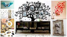 diy wohnideen wandgestaltung originell dekorieren fotos herzen hexagone