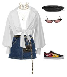 """"""""""" by bxlenciaga ❤ liked on Polyvore featuring Charlotte Russe, River Island, Vans, Chanel, Topshop, Montana and Gucci"""