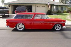 55 Nomad with too big of a diameter rear wheels for MY taste.