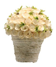 Take a look at this White Birch Rosette Arrangement by Barreveld International on #zulily today!