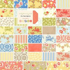 "Fig Tree Quilts CALIFORNIA GIRL 5"" Charm Pack Fabric Quilting Squares Moda 20180PP"