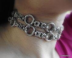 Statement Byzatine Chainmail Collar Double by JSWMetalWorks