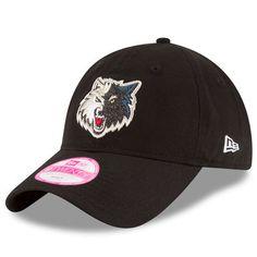 Women s New Era Black Minnesota Timberwolves Team Glisten 9TWENTY Adjustable  Hat. Black 13Minnesota TimberwolvesNbaHatsFan ... 404932dd550