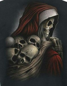 Skull: Santa why is your face like that? Lol