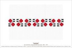 Semne Cusute: MOTIVE: bobite (P33, M17) Hama Beads, Beading Patterns, Pixel Art, Projects To Try, Cross Stitch, Coding, Embroidery, Model, Costume