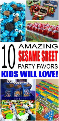 Fun sesame street party favor ideas that kids and teens will love. Try these simple diy sesame street party favors for boys and girls. Here are some easy gift bags, treat bags, cookie monster, big bird and more birthday ideas to say thank you to the friends of that special birthday child.