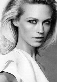 """January Jones (""""Betty"""" on Mad Men) shares a birthday with Bradley Cooper - January 5th!"""