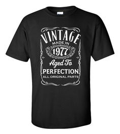 Vintage Made In 1977 T-Shirt Aged To Perfection by ShirtMakers