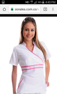 Blusa enf. Spa Uniform, Scrubs Uniform, Doctor Scrubs, Stylish Scrubs, Scrubs Outfit, Lab Coats, Medical Uniforms, Medical Scrubs, Maternity Dresses