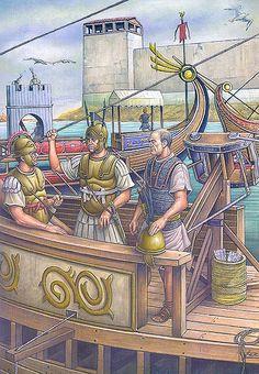 """""""El tribuno militar Caio Lelio en el bloqueo naval de Cartago Nova, 209 aC"""""""