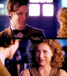 This may be my most favorite scene of River and the Doctor...his reaction is so perfect!