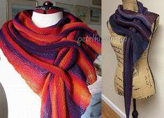 Норвежский треугольный шарф — бактус: схемы и подробности вязания — Копилочка полезных советов