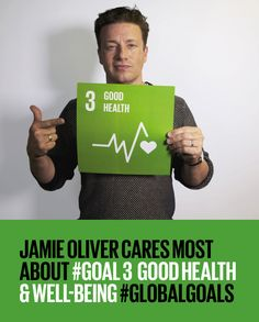 The Global Goals for Sustainable Development. Jamie Oliver endorses Goal good health & well-being for all Around The World Theme, Global Citizenship, Social Entrepreneurship, Goal Quotes, Health Tips For Women, Sustainable Development, Health Goals, Educational Activities, Health Education