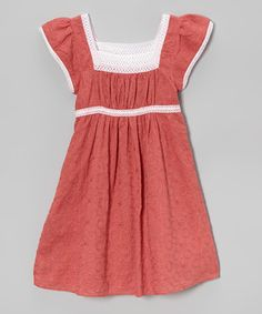 Another great find on #zulily! Red Embroidered Vintage Lace Dress - Toddler & Girls by Hems and Frills #zulilyfinds