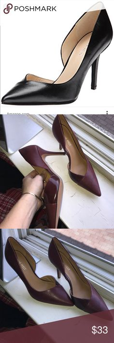 Nine West jowzer d'orsay pumps Red nine west jowzer d'orsay pumps red snakeskin detail. Brand new never worn, classic style Nine West Shoes Heels