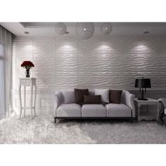 Wall Panels Home Depot threedwall 27 sq. ft. of 19.6 in. x 19.6 in. x 1 in. off-white