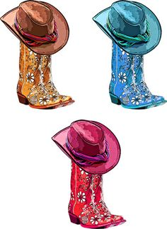 Leather Cowboy Boots Png Clip Art Digital By