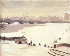 Лапшин Н. Переход через Неву 1935 г.