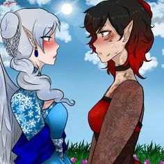 Ruby Rose and Weiss Schnee  > WhiteRose Shipp  > from RWBY
