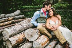 Rustic Organic Farm Wedding | Photo by Sam Docker