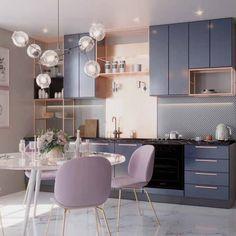 Kitchen Room Design, Modern Kitchen Design, Dining Room Design, Home Decor Kitchen, Interior Design Kitchen, Kitchen Colors, Kitchen Ideas, Pastel Kitchen, Decorating Kitchen