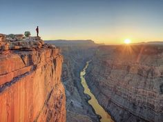 Picture of a man looking out of Tuweep Overlook in the North Rim of Grand Canyon National Park