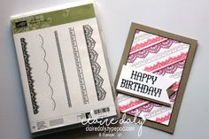 Stampin Up Delicate Details Saleabration 2017 stamp set.. One of the items you can choose Free with $90 order in my online store Jan 4th to March 31st 2017. Claire Daly Stampin Up Demonstrator Melbourne Australia