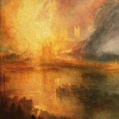 William Turner l'#incendie de la Chambre des #Lords et des communes 1835  Une des œuvres les plus célèbres de #williamturner qui peint ici l'actualité de son temps. Paysage cataclysmique nous sommes ici dans le romantisme anglais le plus caractéristique (voir aussi #JohnMartin). #Turner. Débuté sa carrière comme pasticheur de #claudelorrain puis il s'en est libéré petit à petit jusqu'à atteindre à la fin de sa vie une palette presque abstraite.  #bruits #britishart #romantisme #romantism…