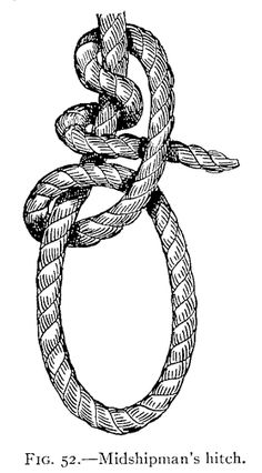Illustration: FIG. 52.—Midshipman's hitch.
