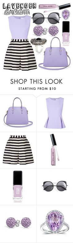 """Lavender Dream"" by minchu ❤ liked on Polyvore featuring Kate Spade, Diane Von Furstenberg, Reiss, Bobbi Brown Cosmetics, JINsoon, Wood Wood, Bling Jewelry and Kobelli"