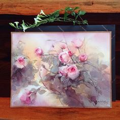 Wild roses? #watercolor #art #artist #paint #painting #rose #roses #sweet #pink…