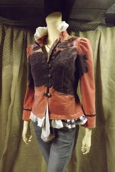 Lagenlook Romantic Boho Jacket Victorian Inspired Upcycled Embossed Velvet Hand Dyed Size S