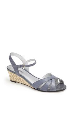 i got these for spring /summer 2014. i ordered the white for dressier matters and i will be ordering the navy(more of a silvery denim).  i will now ONLY order from nordstroms when buying shoes, thanks to their single shoe program!!!! Trotters 'Mickey' Wedge Sandal available at #Nordstrom