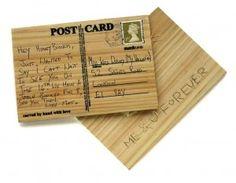 postkarte holz