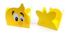 free studio cut file 3D DIY chick treat cup wrap box Diário de uma Silhouette: Forminha - Turma da galinha pontadinha #2