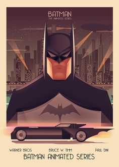 "thecomicartblog: ""Enmity Batman The Animated Series: Batman and the Joker by Cristhian Hova. """