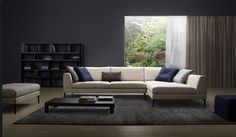Discover The Luxurious And Contemporary Plaza Modular Sofa Design Available In A Range Of Premium Fabrics European Leathers King Living