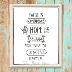 Printable inspirational Wall art poster quote motivational saying Faith is Typography love life downloadable print by ThePixelBox on Etsy Typography Love, Inspirational Wall Art, Quote Posters, Love Life, Bible Verses, Motivational Quotes, Printables, Faith, Sayings