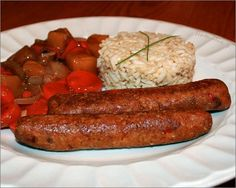 Barbecue, Sausage, Vegetarian Recipes, Spaghetti, Veggies, Favorite Recipes, Meat, Cooking, Diners